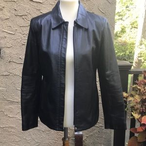 Reaction Kenneth Cole black leather jacket